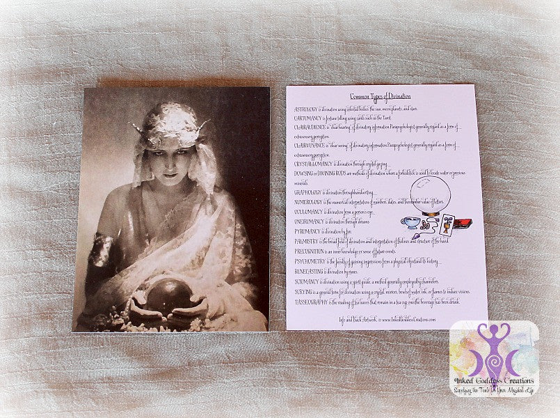 Types of Divination Art Card