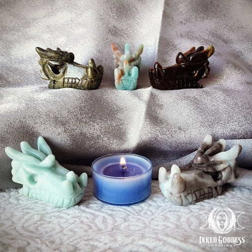 Small Gemstone Dragon Carvings for Strength