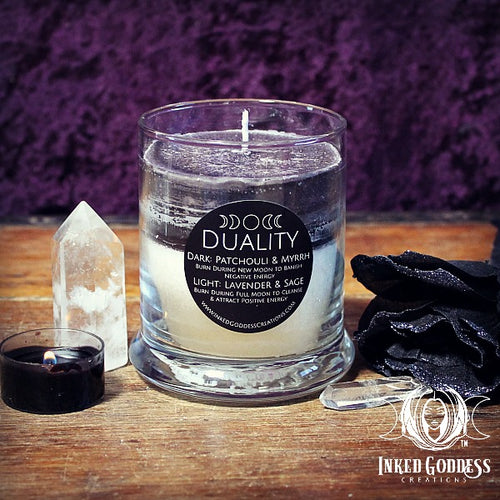 Duality Jar Candle for Lunar Cycle Magick