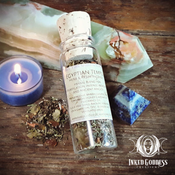 Egyptian Temple Herb & Resin Incense from Inked Goddess Creations