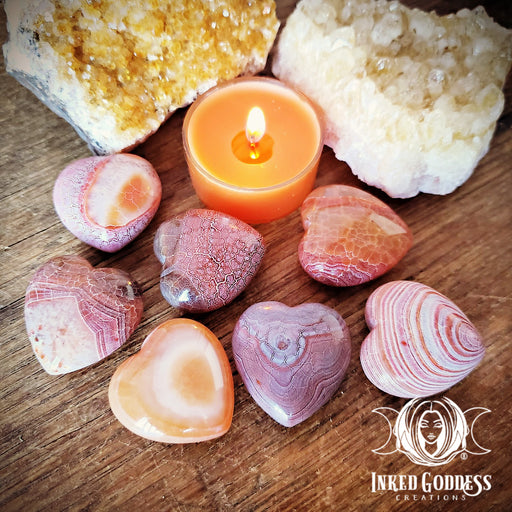 Fire Agate Gemstone Heart to Ignite Your Inner Flame