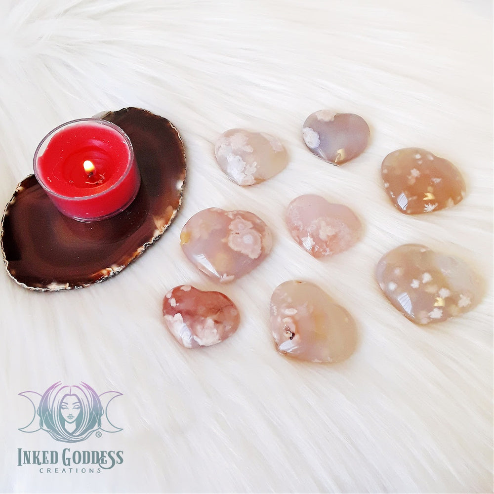 Flower Agate Heart