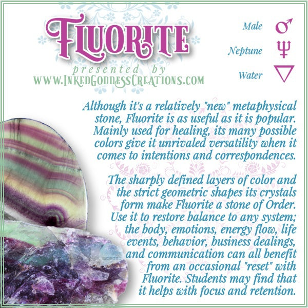 The Magick of Fluorite, from Inked Goddess Creations