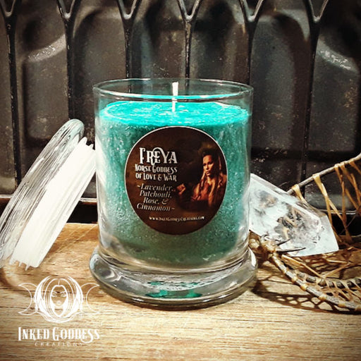 Freya Jar Candle- Norse Goddess of Love and War