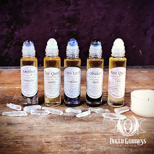Gemstone Infused Perfume Oils