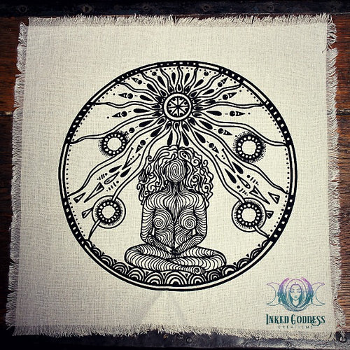 Mother Earth Crystal Grid Cloth