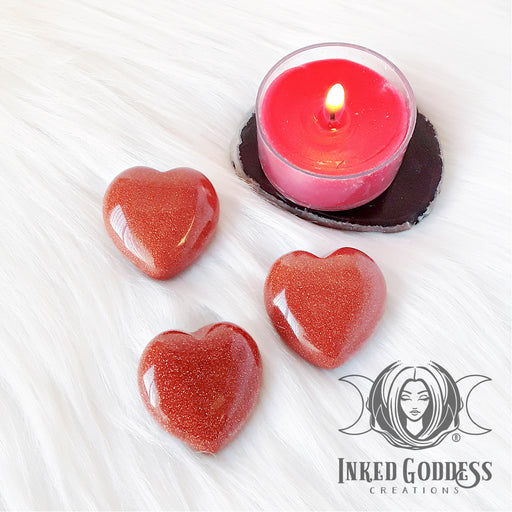 Goldstone Gemstone Heart for Vitality
