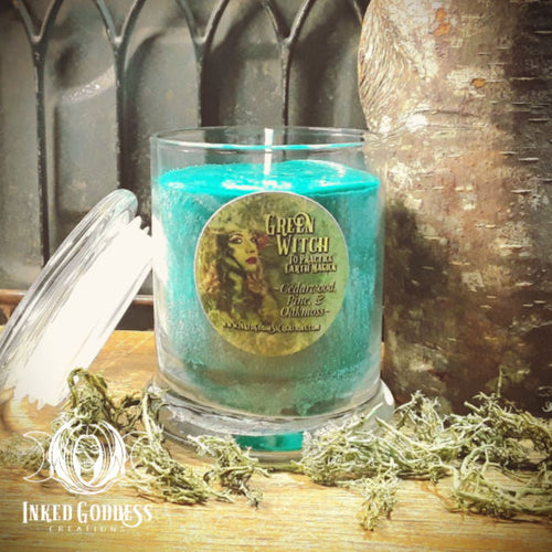 Green Witch Jar Candle for Green Magick