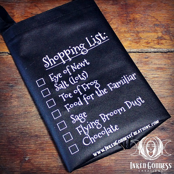 Witchy Shopping List Reusable Grocery Bag