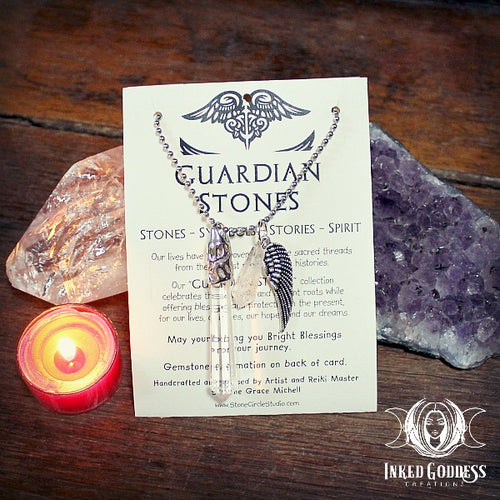 Clear Quartz Guardian Stone Necklace