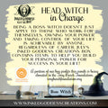 """""""Head Witch in Charge""""- July 2021 Inked Goddess Creations Box- One Time Purchase"""