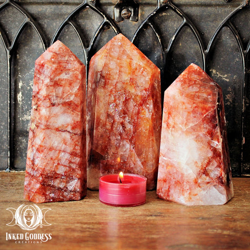 Fire Quartz Large Towers for Balance & Stability