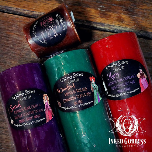 Halloween Witchy Sisters Candle Set