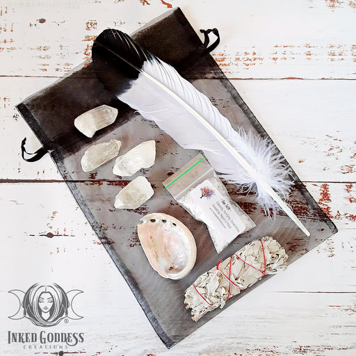 House Blessing & Smoke Cleansing Kit With Quartz