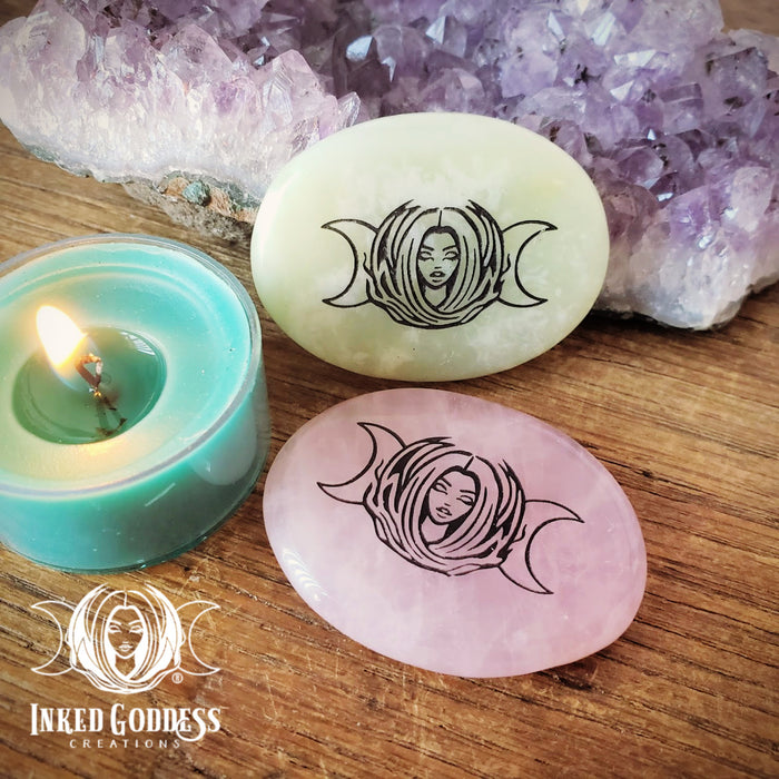 Inked Goddess Creations Palm Stone.