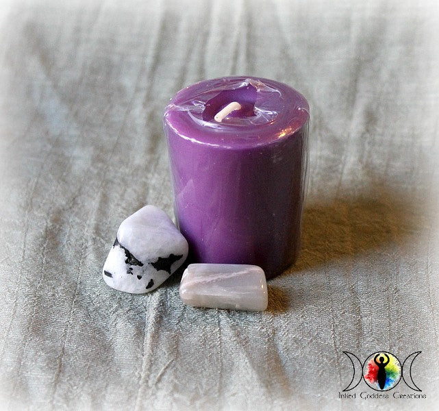 Divine Feminine Spell Votive Candle for the Goddess