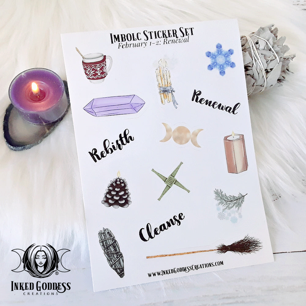 Imbolc Sticker Sheet from Inked Goddess Creations