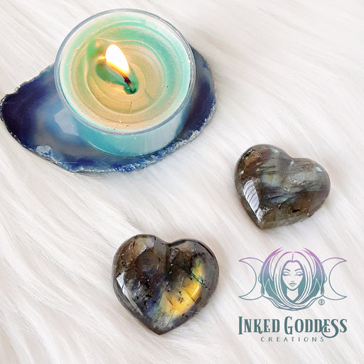 Labradorite Gemstone Heart for Psychic Awareness