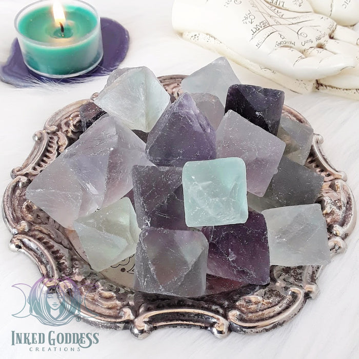 Fluorite Octahedrons for Heart Healing