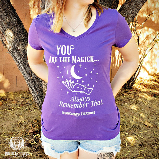 You Are the Magick Purple V-Neck Women's T-Shirt- IGC Exclusive!