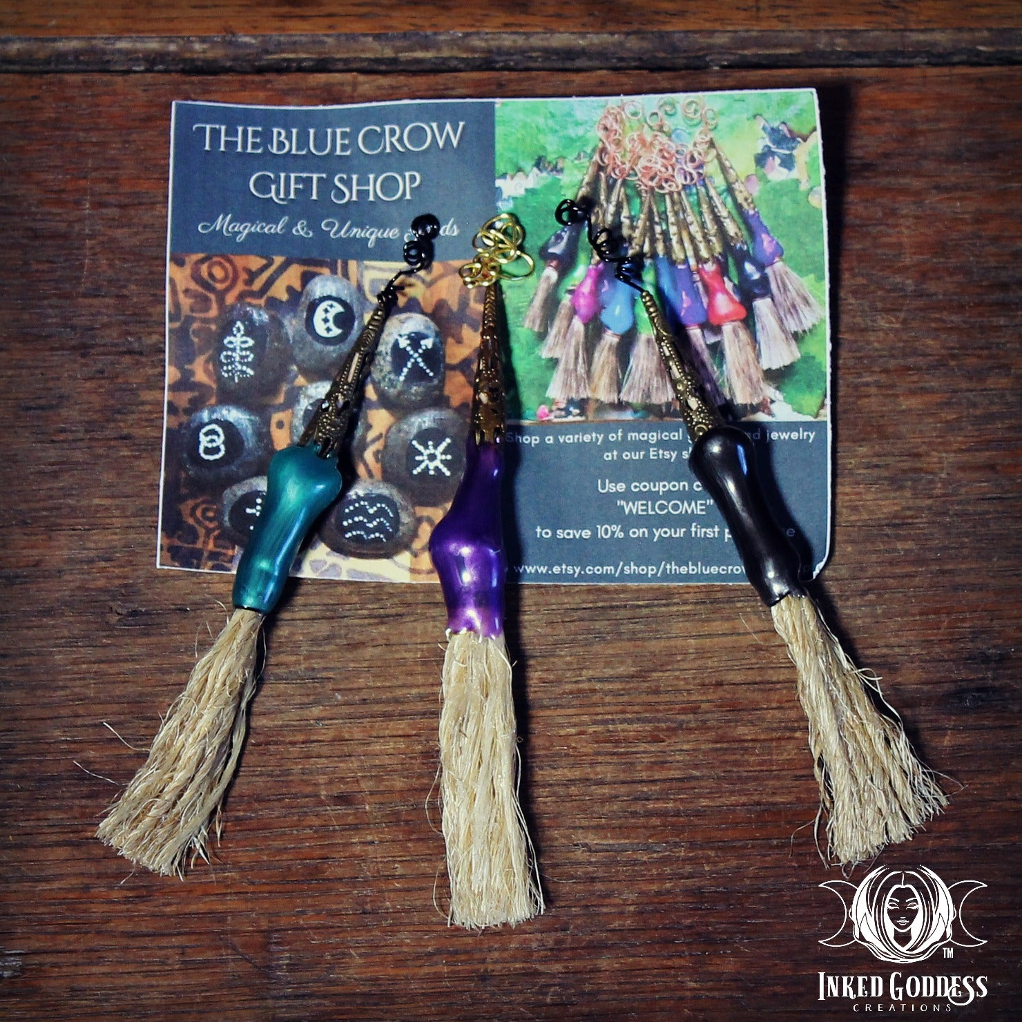 Using a besom or broom to sweep away negativity an Cleanse a