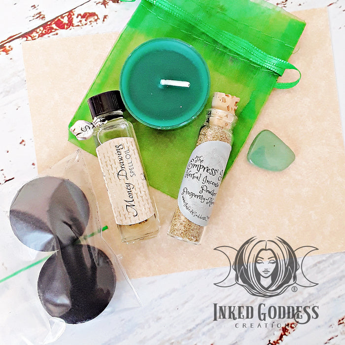 Money Drawing Spell Kit from Inked Goddess Creations