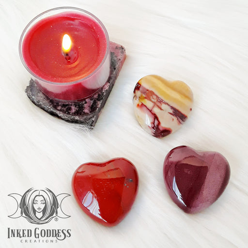 Mookaite Gemstone Heart for Emotional Growth