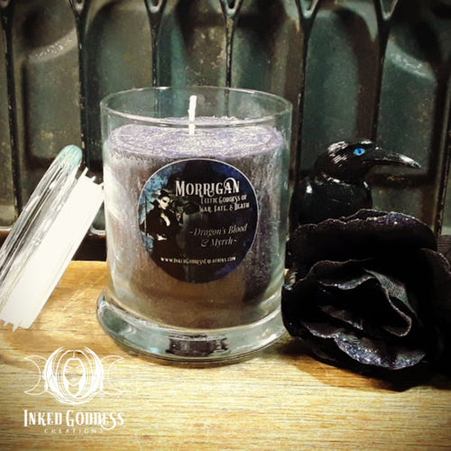 The Morrigan Jar Candle- Celtic Goddess of War, Fate, and Death
