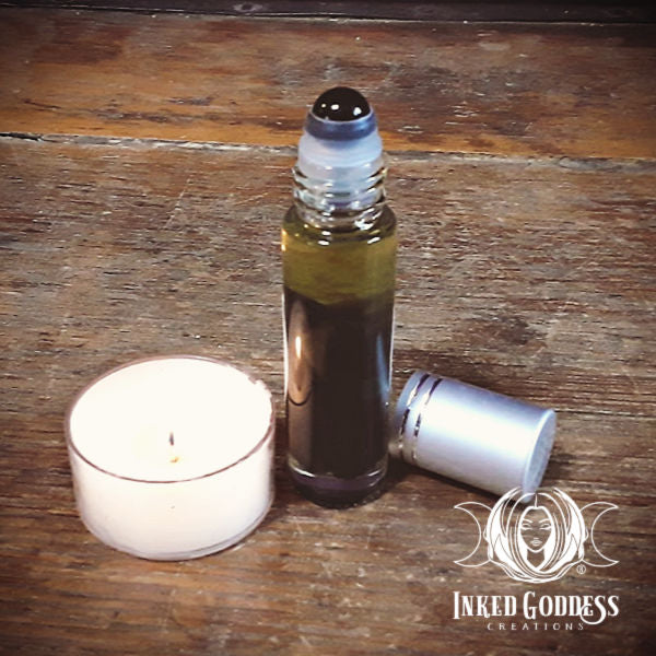 Obsidian Gemstone Infused Perfume Oil