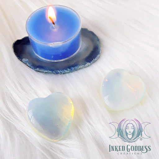 Opalite Gemstone Heart for Spirit Guide Communication