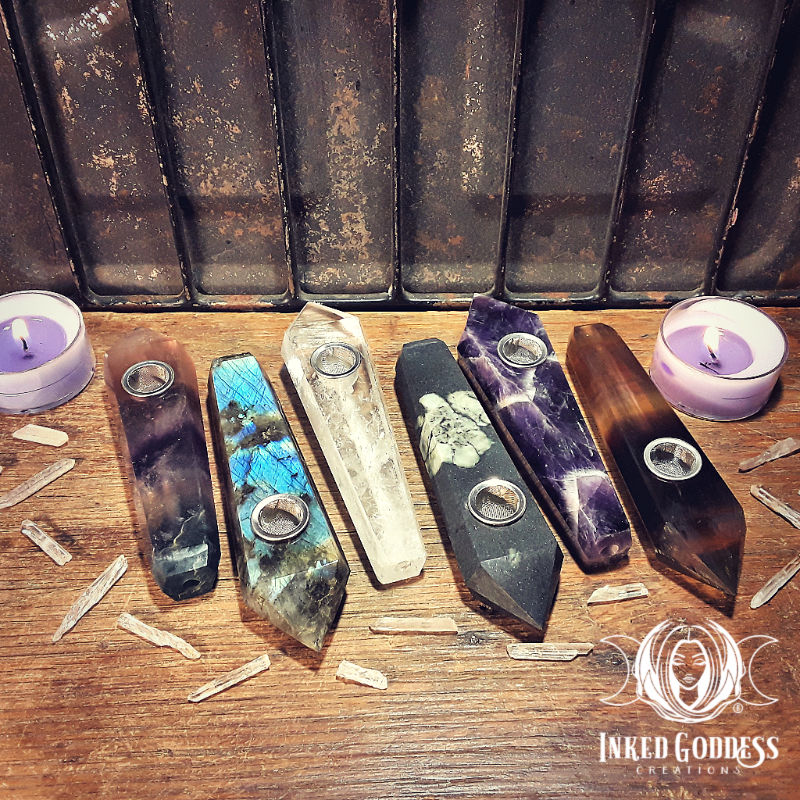 Gemstone Pipes for Your Herbal Blends