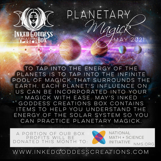 Planetary Magick- May 2021 Inked Goddess Creations Box- One Time Purchase