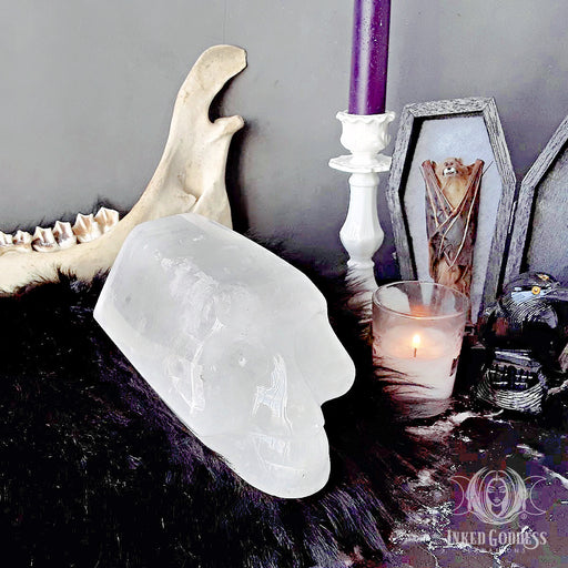 Large Skull Quartz Point for Ancestral Healing