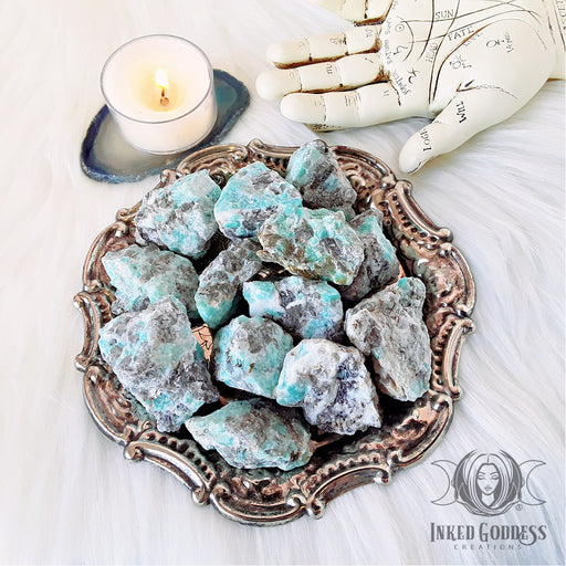 Raw Amazonite for Calming Energy