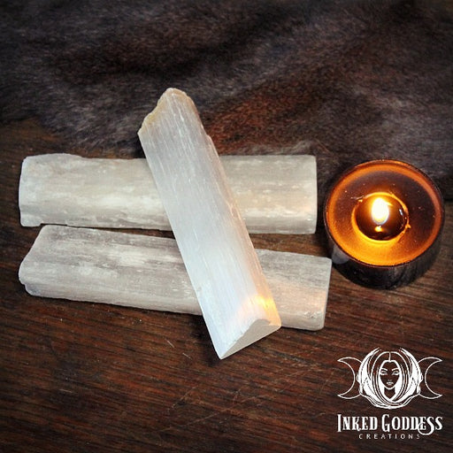 Raw Selenite Mini Wand