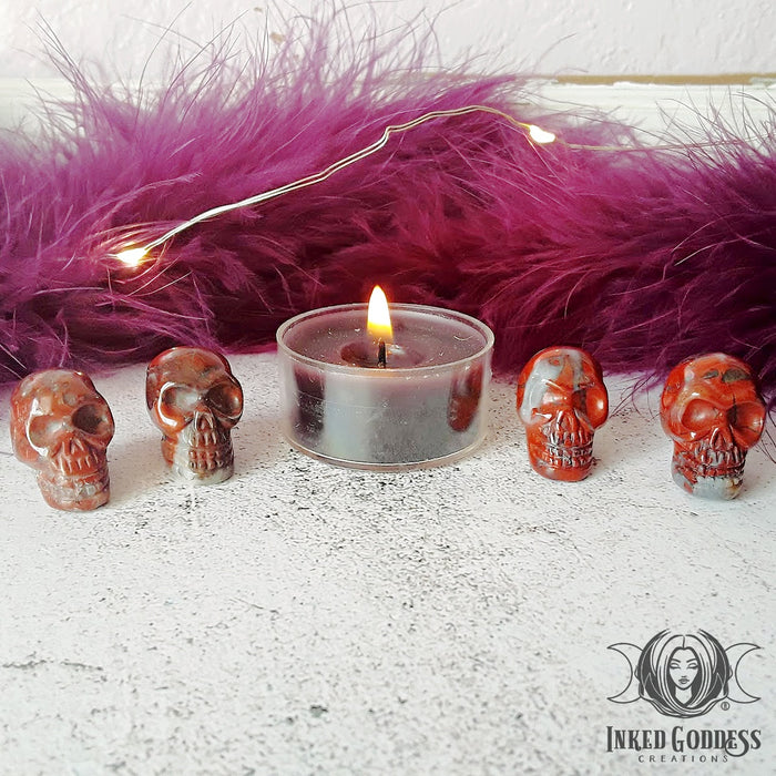 Red Jasper Gemstone Skulls