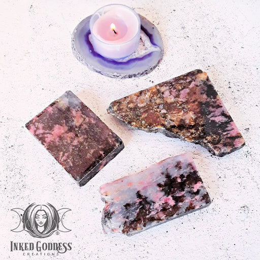 Rhodonite Altar Tiles for Balancing Emotions