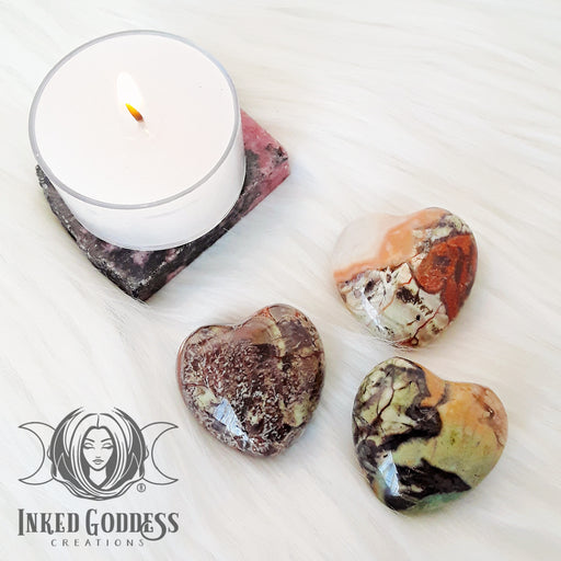 Rhyolite Gemstone Heart for Body, Mind, Soul Connection