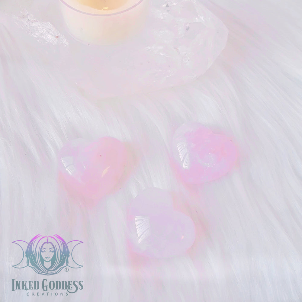 Rose Quartz Gemstone Heart for Loving Energy