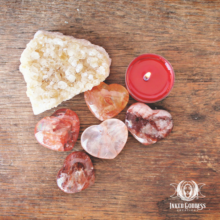 Fire Quartz Hearts for Universal Love