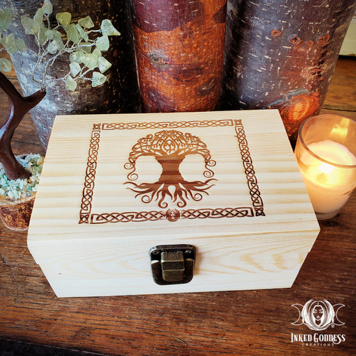 Celtic Tree of Life Wooden Altar Boxes