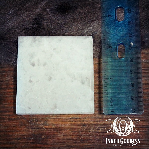 Small Selenite Charging Plate- Cleanse and Charge Your Crystals