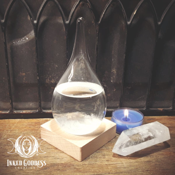 Storm Glass with Wooden Base for Storm Magick