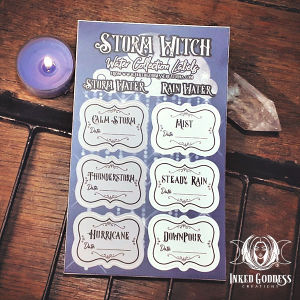 Storm Witch Water Collection Labels