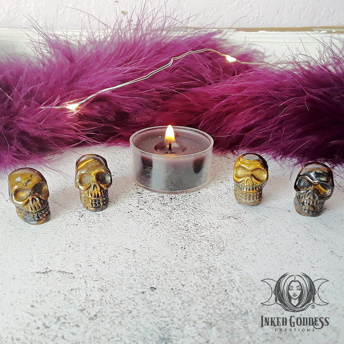 Tiger Iron Gemstone Skulls