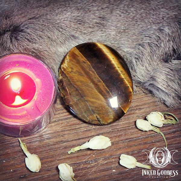 Tiger's Eye Palm Stone