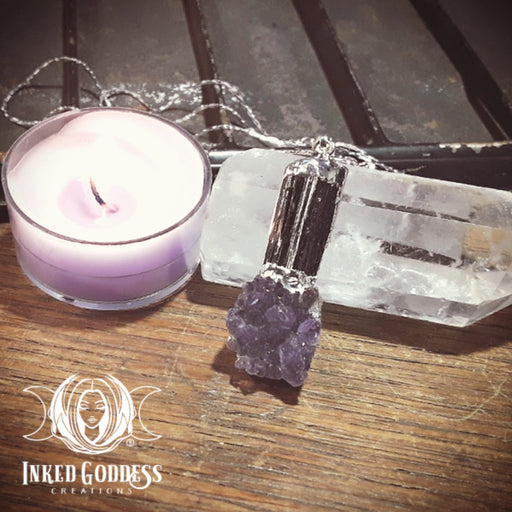 Psychic Protection Necklace- Black Tourmaline & Amethyst