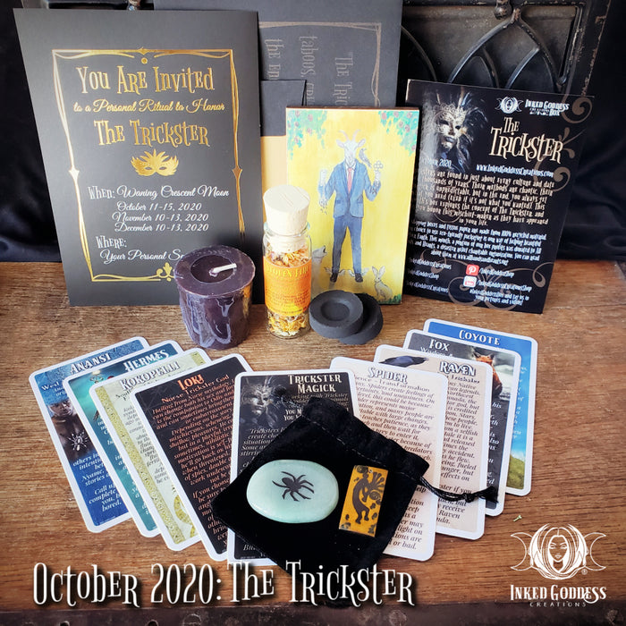"""The Trickster""- October 2020 Inked Goddess Creations Box"