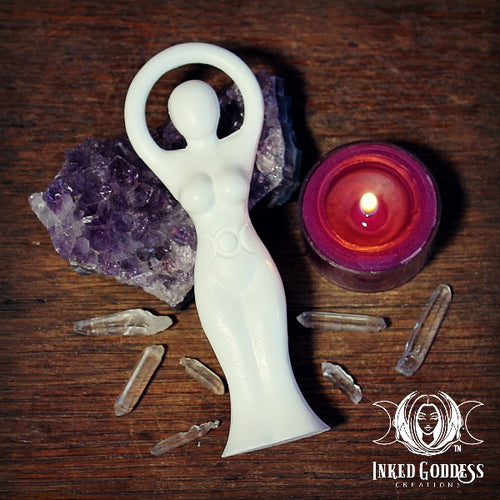 Triple Moon Goddess Statue