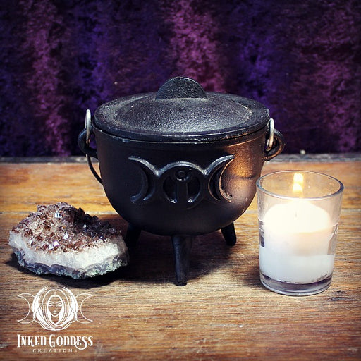 Triple Moon & Goddess Cauldron